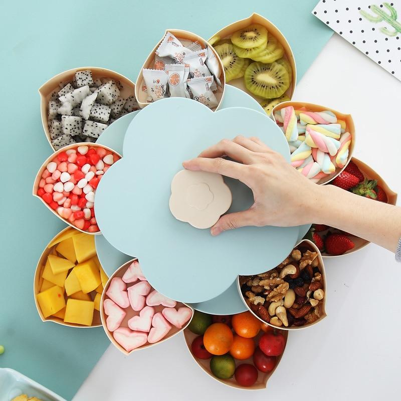 Creative Rotating Flower Snack Box