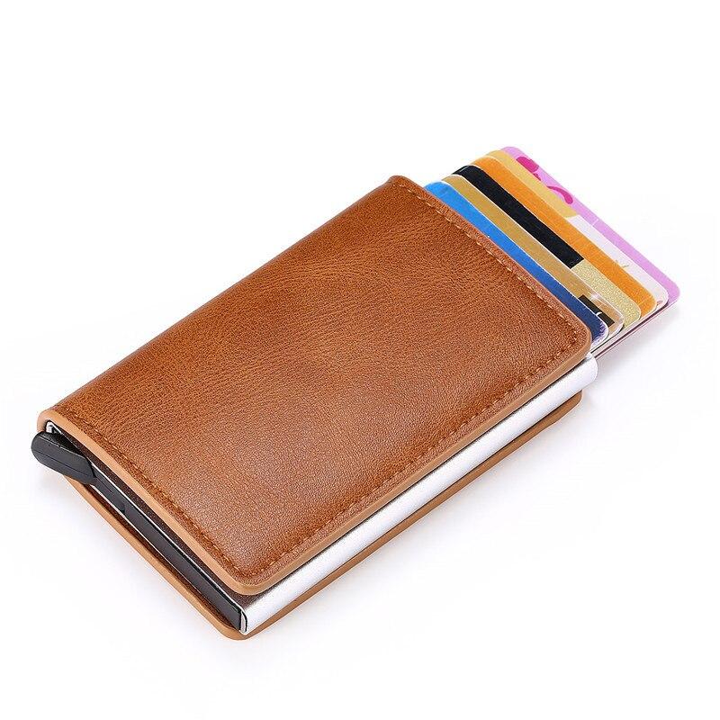 Smart wallet business card holder