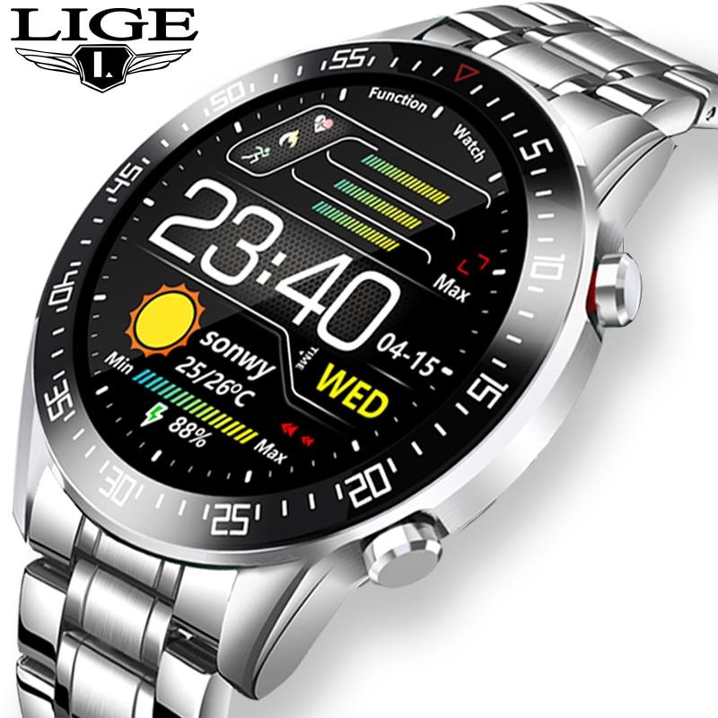 LIGE 2020 smart watch touch screen waterproof