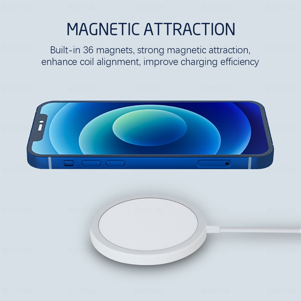 15W Magnetic Wireless Charger for iPhone 12 Cell Phones & Accessories