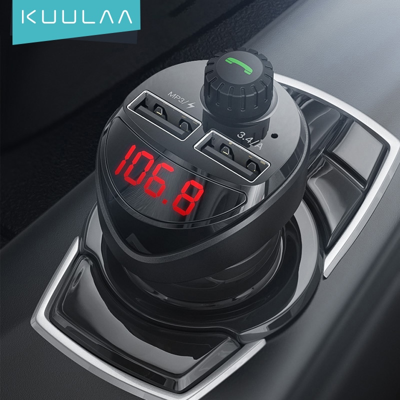 Car Charger FM Transmitter Wireless MP3 Player Dual USB Car Accessories