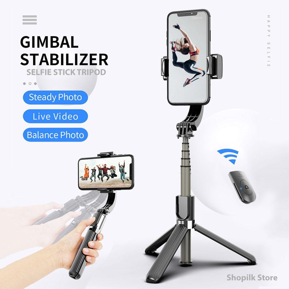 Smart gimbal stabilizer tripod anti-shake remote 360 3in1