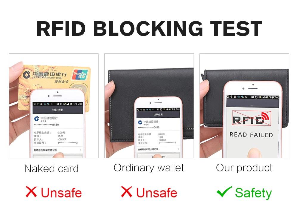 Smart Wallet Business Card Holder RFID Wallets