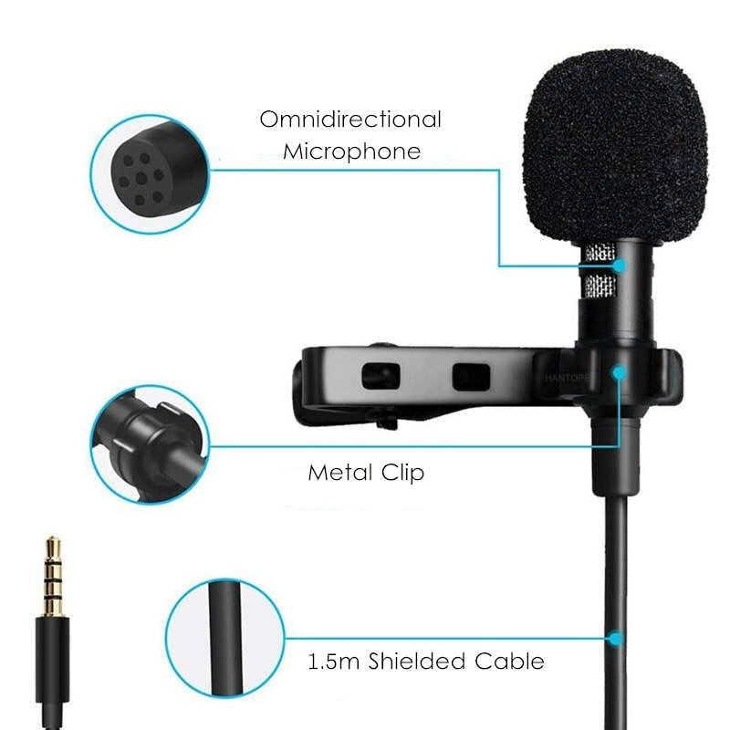 Mini Microphone Portable Clip-on for Phone Laptop Camera