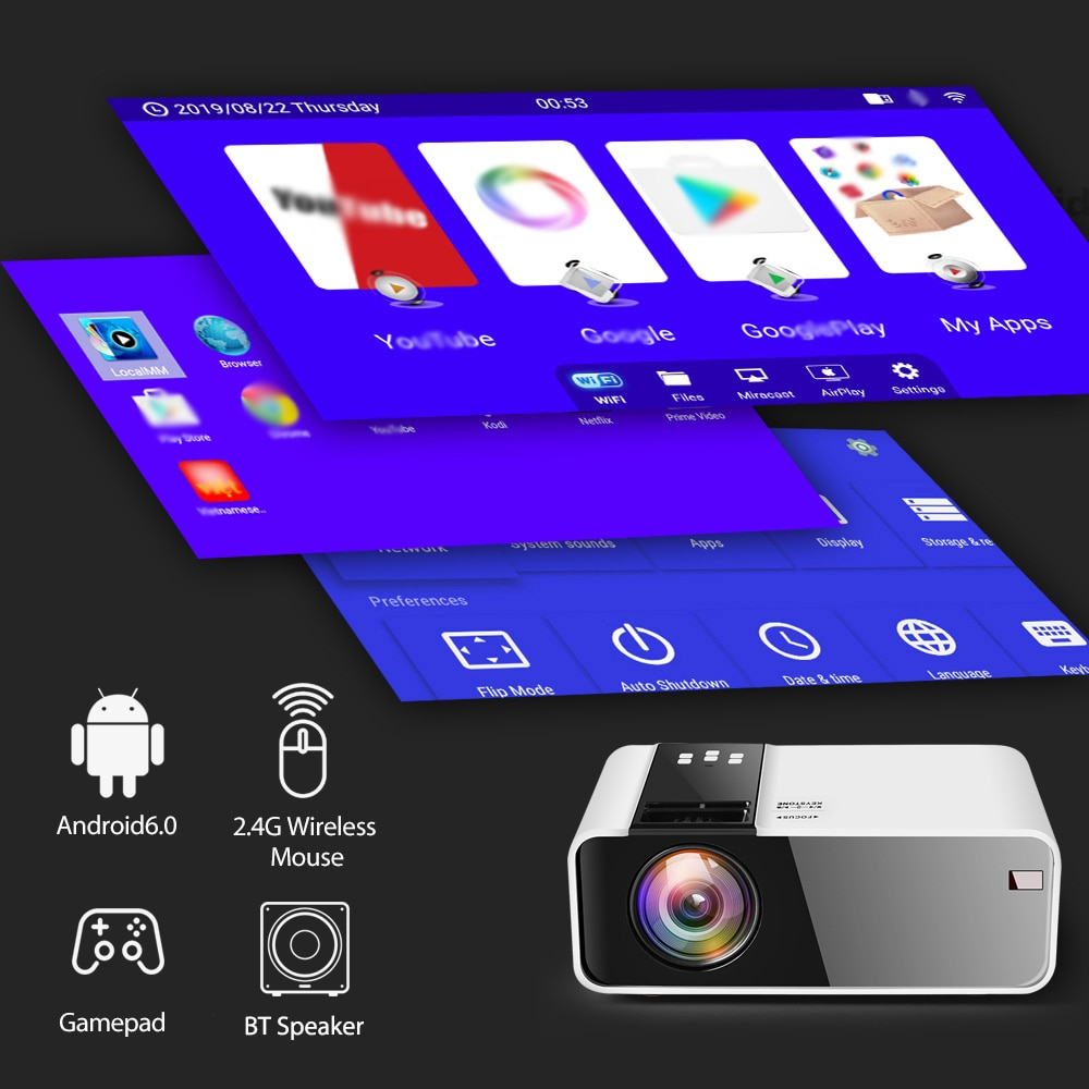 Thundeal TD90 Projector wireless gamepad android bt speaker